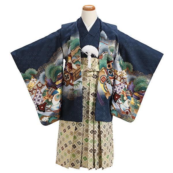 七五三 レンタル着物とはかま 男の子 5歳 753B4-36 /着付け手順書付き kyotokikuya 02