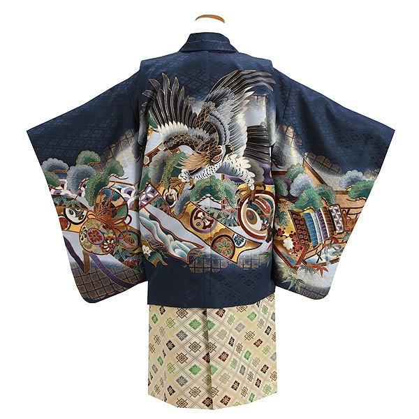 七五三 レンタル着物とはかま 男の子 5歳 753B4-36 /着付け手順書付き kyotokikuya 03