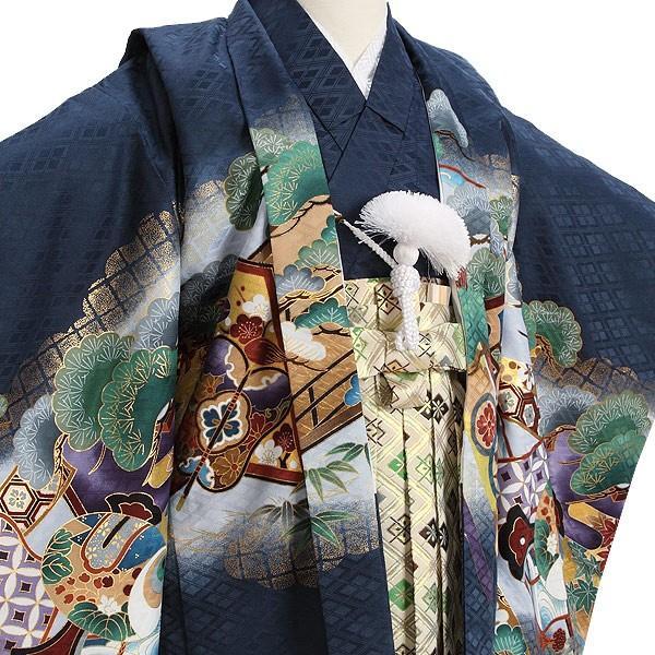 七五三 レンタル着物とはかま 男の子 5歳 753B4-36 /着付け手順書付き kyotokikuya 05