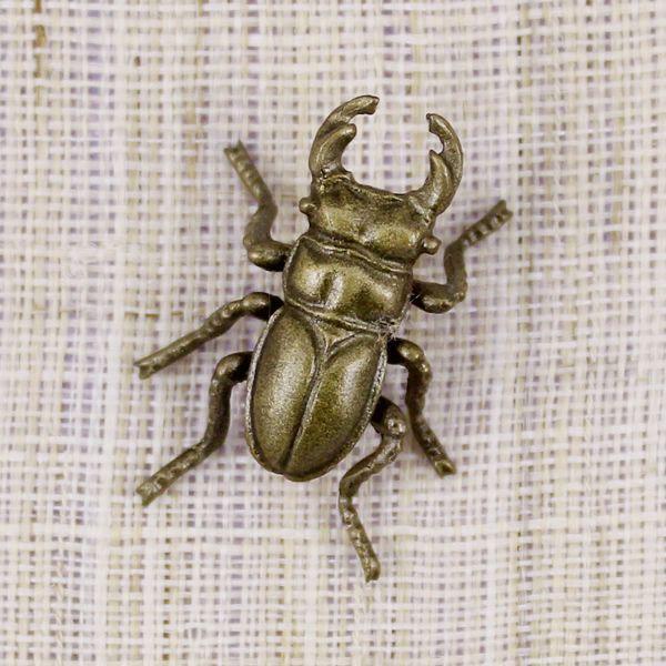 タックピン・ラベルピン・ブローチ(黄銅製)くわがた虫・クワガタ虫