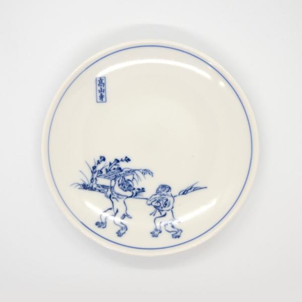 鳥獣戯画 皿 小皿 清水焼 京焼 5枚 セット 和柄 高山寺 4.5寸 銘々皿 陶器 手作り 和食器|kyotomarche|02