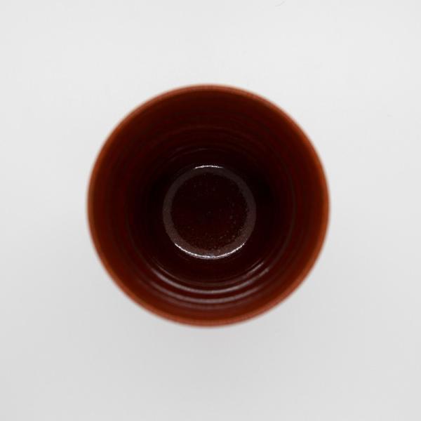 清水焼 京焼 抹茶 京都市 ビアカップ 陶器 柿釉 手作り 和食器|kyotomarche|04