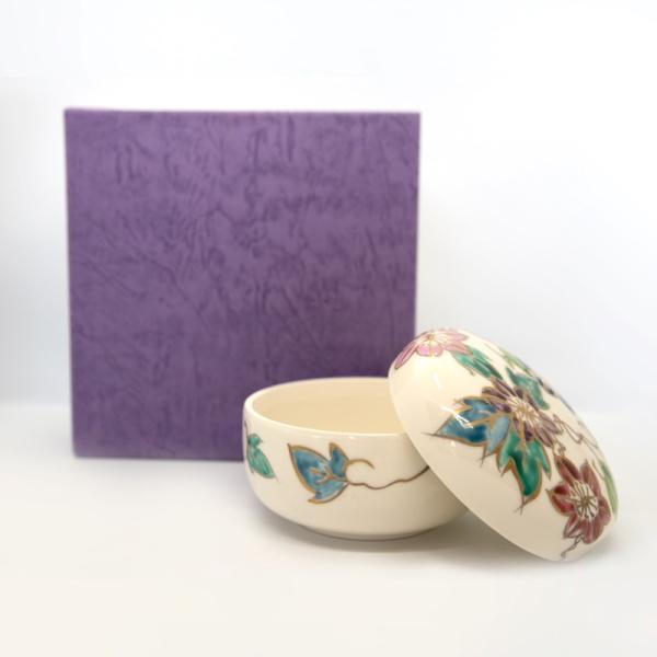 清水焼 京焼 薬味入れ かわいい 花 花柄 丸蓋物 鉄線蓋物 陶器 手作り|kyotomarche|05
