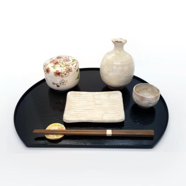 清水焼 京焼 薬味入れ かわいい 花 花柄 丸蓋物 桜蓋物(小) 陶器 手作り|kyotomarche|02
