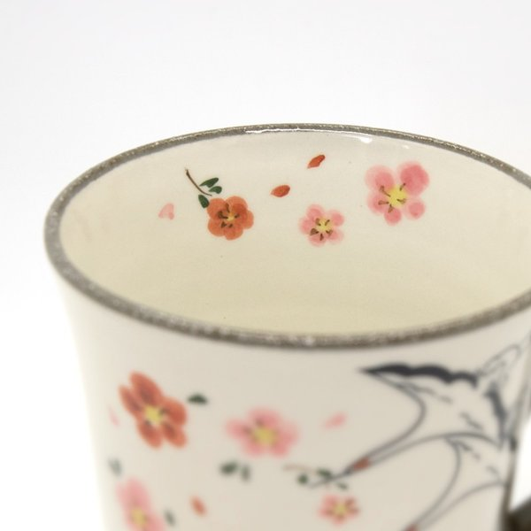 清水焼 京焼 マグカップ 和風 祝儀 おしゃれ 花 千年マグカップ|kyotomarche|03