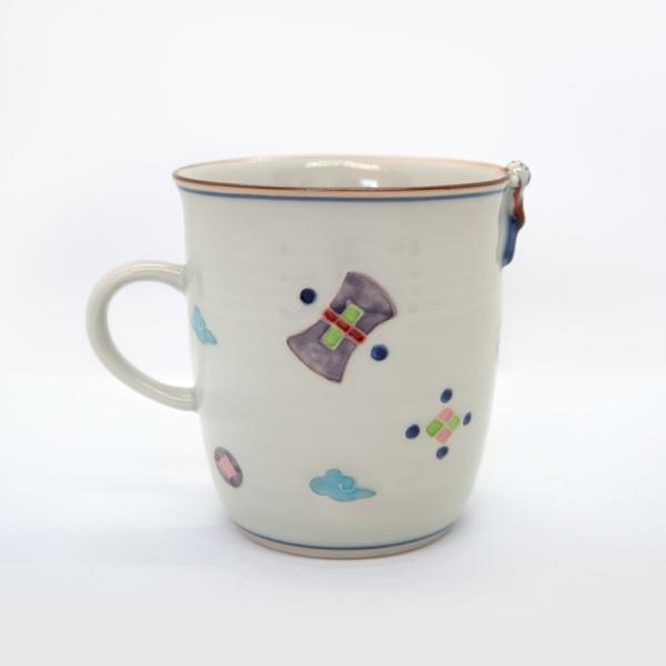 清水焼 京焼 マグカップ 和風 一珍風神マグカップ 陶器 和食器|kyotomarche|02