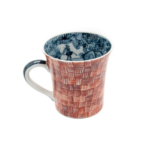 六斎窯 雷文 マグカップ おしゃれ 器 和食器 陶器 手作り 清水焼 kyotomarche