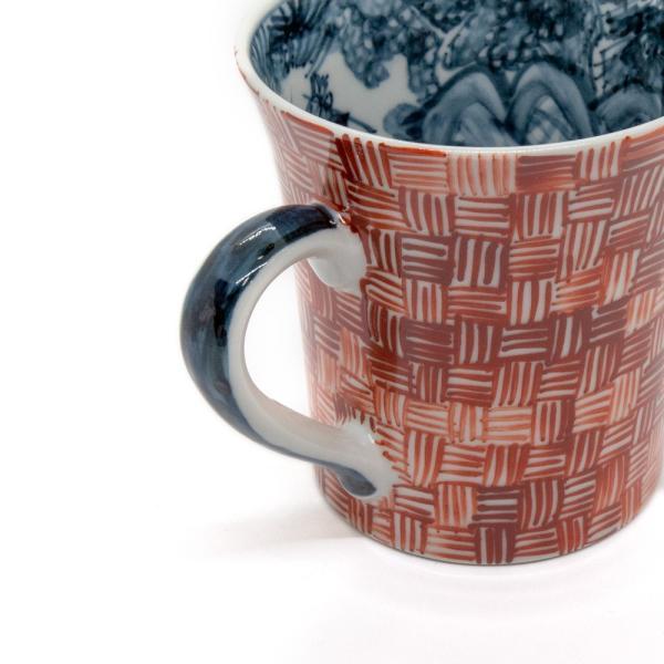 六斎窯 雷文 マグカップ おしゃれ 器 和食器 陶器 手作り 清水焼 kyotomarche 02