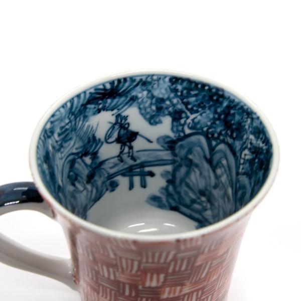 六斎窯 雷文 マグカップ おしゃれ 器 和食器 陶器 手作り 清水焼 kyotomarche 03