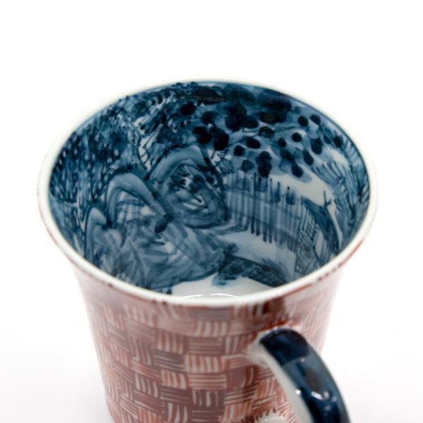 六斎窯 雷文 マグカップ おしゃれ 器 和食器 陶器 手作り 清水焼 kyotomarche 04