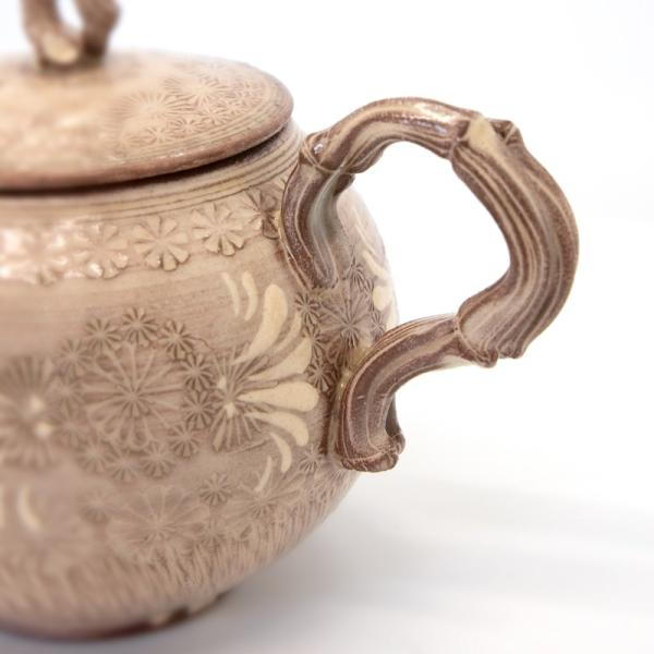清水焼 京焼 ティーセット 石瓶 急須 紫三島煎茶器 陶器 手作り 和食器|kyotomarche|03