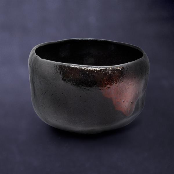 お中元 楽焼窯元 三代松楽 清水焼 茶碗 抹茶碗 茶道 茶の湯 黒楽 陶器 器 京焼|kyotomarche