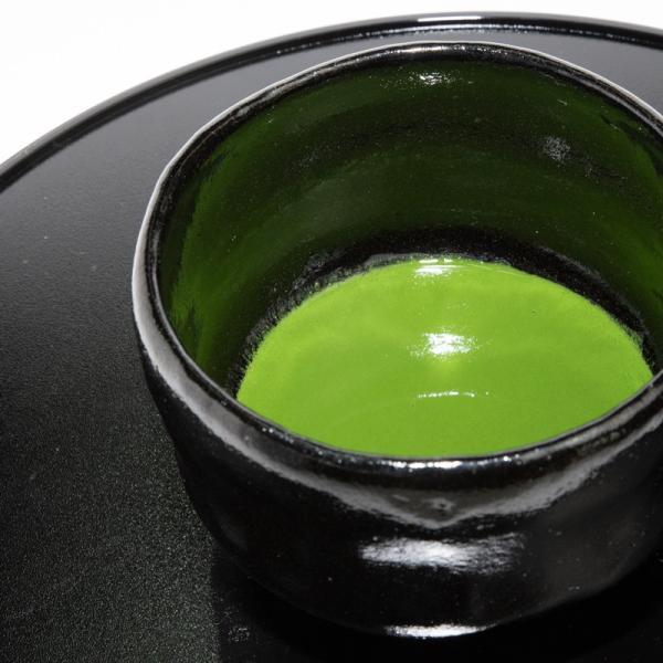 お中元 楽焼窯元 三代松楽 清水焼 茶碗 抹茶碗 茶道 茶の湯 黒楽 陶器 器 京焼|kyotomarche|02