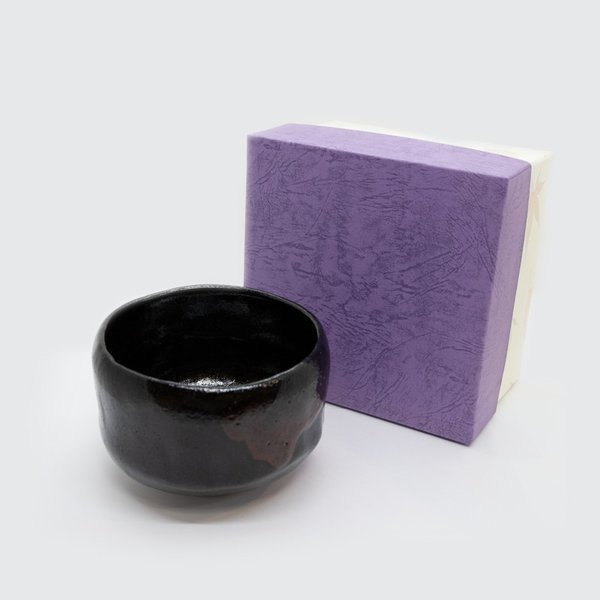 お中元 楽焼窯元 三代松楽 清水焼 茶碗 抹茶碗 茶道 茶の湯 黒楽 陶器 器 京焼|kyotomarche|07