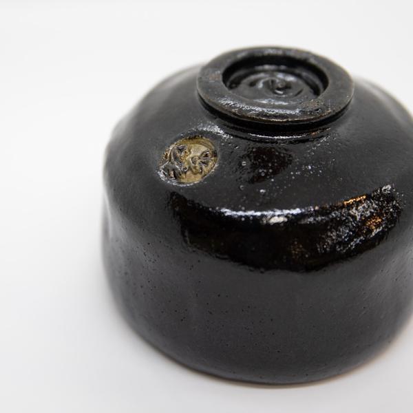 お中元 楽焼窯元 三代松楽 清水焼 茶碗 抹茶碗 茶道 茶の湯 黒楽 陶器 器 京焼|kyotomarche|04