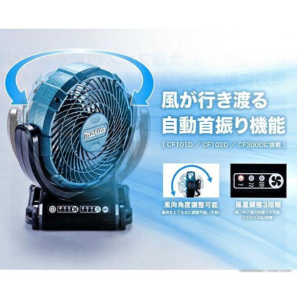 マキタ 充電式ファン 自動首振りモデル CF102DZ 14.4/18V ACアダプタ付|kyotoyamamura|02