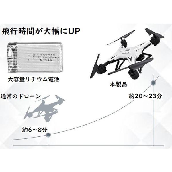 ドローンKY601S改良版 カメラ付き 500万画素 宙返り 気圧センサー搭載  空撮 WIFIFPV  スマホ 遠隔操作リモコン 誕生日 キャンペーン|kyougenn|06
