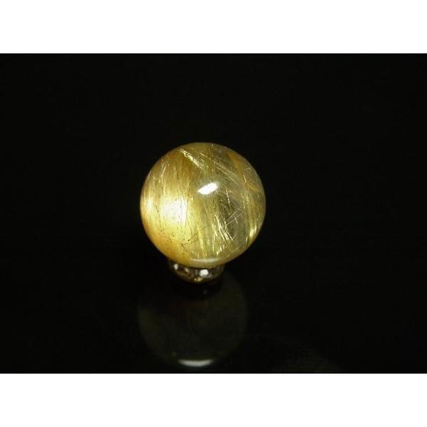 写真現品一点物 ゴールドルチルクォーツ 金針水晶 12ミリ粒 貫通穴あり KY96  人気 ハンドメイド 1粒売り 現品 クォーツ パワーストーン 天