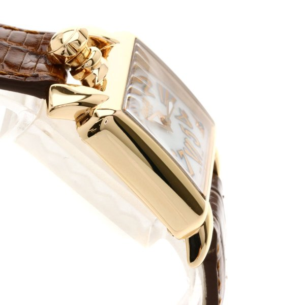 Gaga Milano ガガ・ミラノ GAG603602 ナポレオーネベイビー 腕時計 PGP/革 レディース  中古
