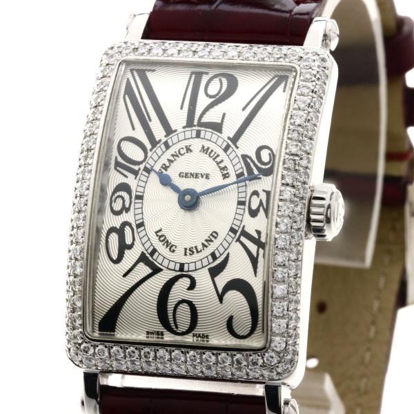 FRANCK MULLER フランクミュラー 902QZD  ロングアイランド/ダイヤモンド 腕時計  K18ホワイトゴールド/革 レディース  中古