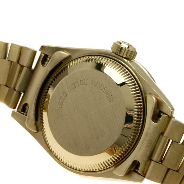 ロレックス  69138 デイトジャスト 10Pルビー  腕時計 K18イエローゴールド K18YG ダイヤモンド レディース  中古