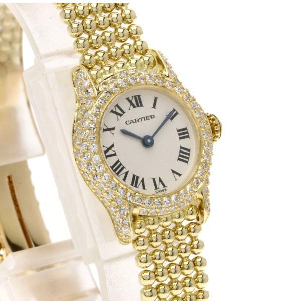 カルティエ CARTIER ヴィクトリア SM 腕時計  K18イエローゴールド K18YG ダイヤモンド レディース  中古
