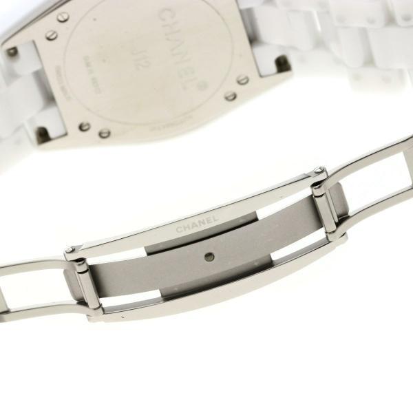 9aeded5e35b0 ... シャネル H4345 J12 11Pダイヤモンド 腕時計 セラミック セラミックxSS メンズ 中古|kyounokura|08