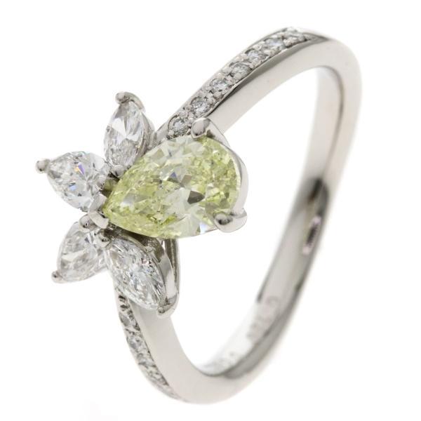 セレクトジュエリー SELECT JEWELRY イエローダイヤモンド ダイヤモンド リング・指輪 プラチナPT900  中古