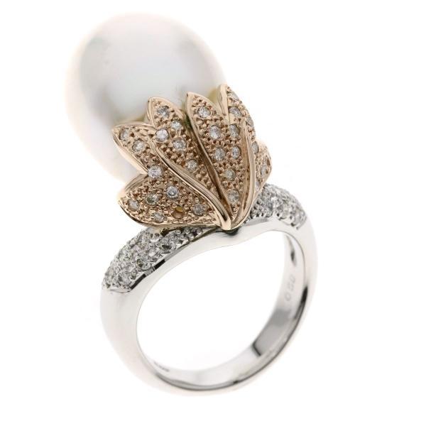 セレクトジュエリー SELECT JEWELRY パール 真珠 ダイヤモンド リング・指輪 プラチナPT900 K18PG  中古