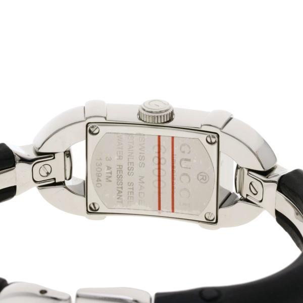 GUCCI グッチ 6800L バンブー ダイヤモンド 腕時計  ステンレススチール レディース  中古