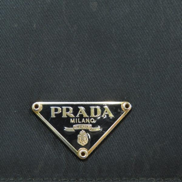 c24a52ac6238 ... プラダ ロゴプレート 二つ折り財布(小銭入れあり)ナイロン素材 ユニセックス 中古 ...