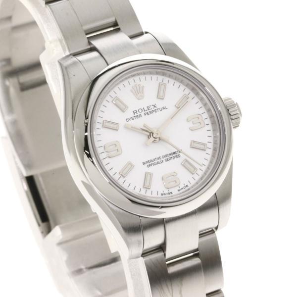 ROLEX ロレックス 176200 オイスター パーペチュアル 腕時計  ステンレススチール レディース  中古