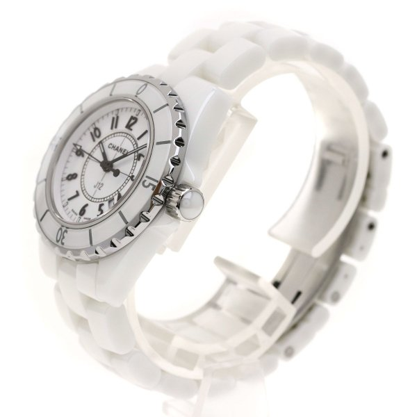4fd8bb46a2f7 CHANEL シャネル H0968 J12 33 腕時計 セラミック/セラミックxSS レディース 中古