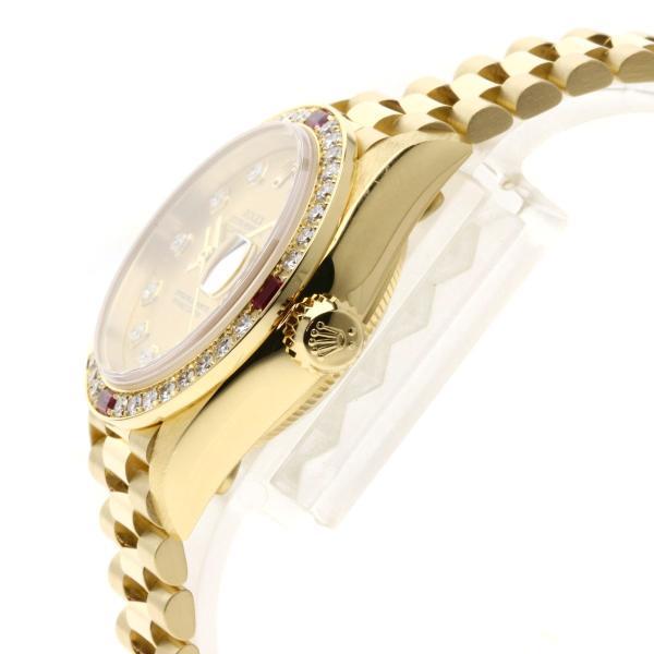 ROLEX ロレックス 79068G デイトジャスト 10Pダイヤモンド 腕時計  K18イエローゴールド/K18YG レディース  中古