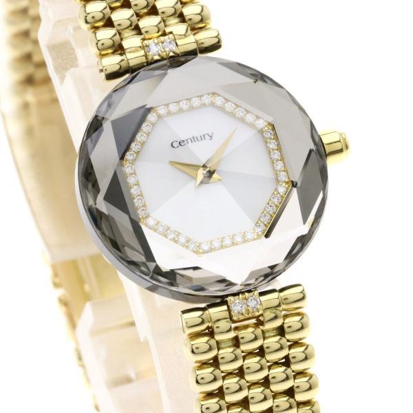 CENTURY センチュリー タイムジェム ベゼルアタッチメントダイヤモンド 腕時計  K18イエローゴールド レディース  中古