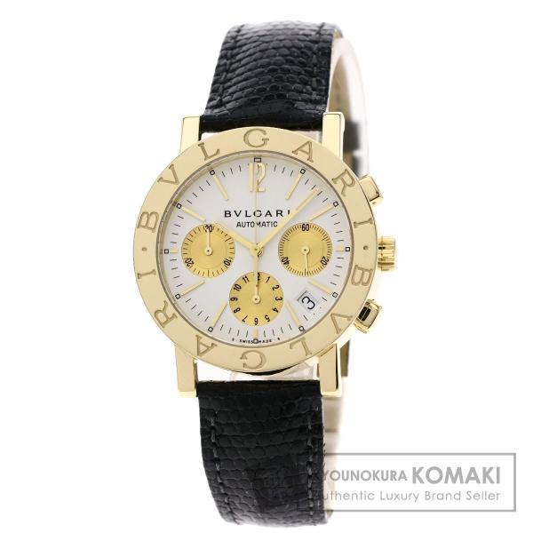 BVLGARI ブルガリ BB38GLDCH ブルガリブルガリ 腕時計  K18イエローゴールド/ワニ革 メンズ  中古 kyounokura