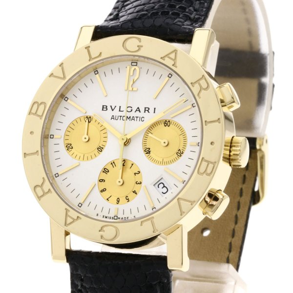 BVLGARI ブルガリ BB38GLDCH ブルガリブルガリ 腕時計  K18イエローゴールド/ワニ革 メンズ  中古 kyounokura 03