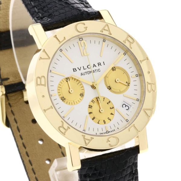 BVLGARI ブルガリ BB38GLDCH ブルガリブルガリ 腕時計  K18イエローゴールド/ワニ革 メンズ  中古 kyounokura 04
