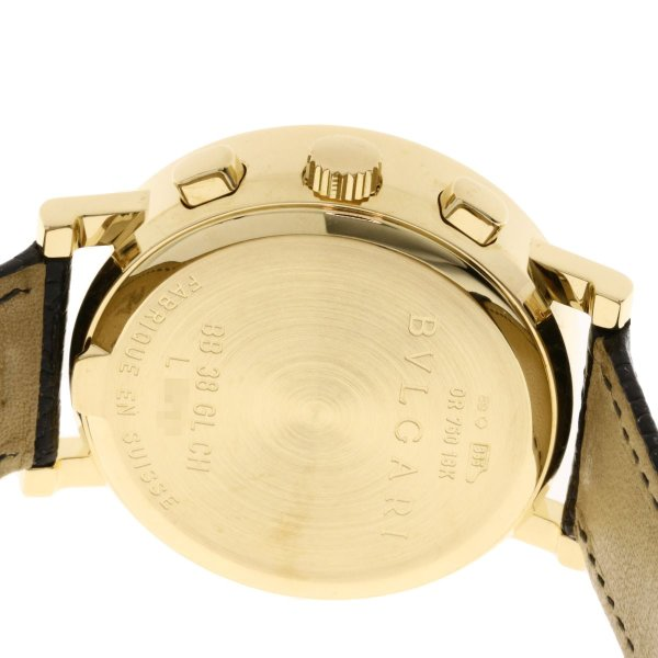 BVLGARI ブルガリ BB38GLDCH ブルガリブルガリ 腕時計  K18イエローゴールド/ワニ革 メンズ  中古 kyounokura 07