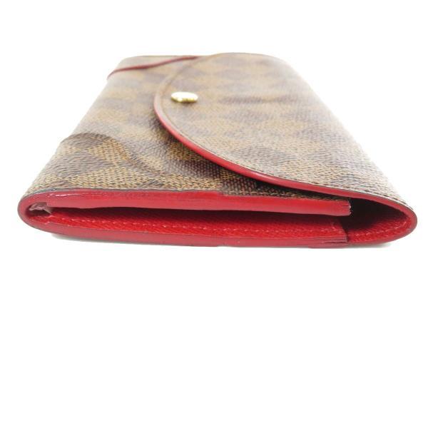 LOUIS VUITTON ルイヴィトン N61221 ポルトフォイユ・カイサ  長財布(小銭入れあり)ダミエキャンバス レディース 中古
