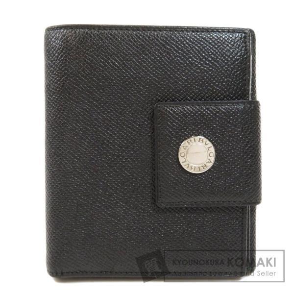 BVLGARI ブルガリ B-zero1 二つ折り財布(小銭入れあり)レザー メンズ 中古|kyounokura