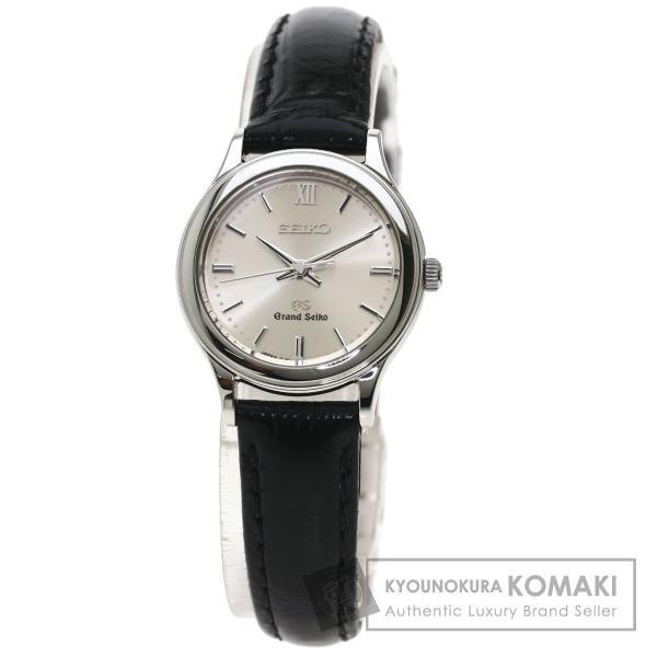 SEIKOセイコーSTGF0154J51-0A10グランドセイコー腕時計ステンレススチール革レディース中古