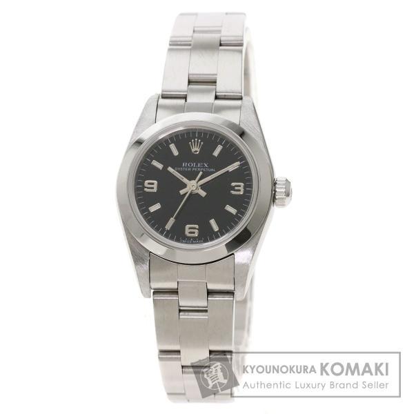 ROLEXロレックス76080オイスターパーペチュアル腕時計ステンレススチールSSレディース中古