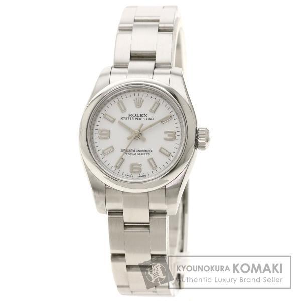 ROLEXロレックス176200オイスターパーペチュアルルーレット腕時計ステンレススチールSSレディース中古