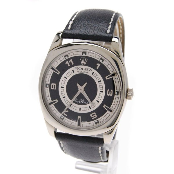 timeless design 5012d 5668d ROLEX【ロレックス】Ref.4243 9 チェリーニ ダナオス 腕時計 K18ホワイトゴールド 革 メンズ 【中古】