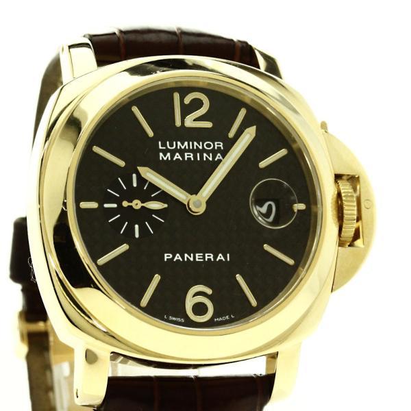 best website d777c 479cb PANERAI パネライ OP6580 ルミノールマリーナ 腕時計 K18イエローゴールド クロコダイル メンズ 中古  :71104021:ブランド京の蔵小牧 - 通販 - Yahoo!ショッピング
