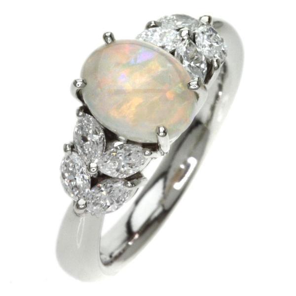 オパール ダイヤモンド リング・指輪 プラチナPT900  中古 SELECT JEWELRY セレクトジュエリー