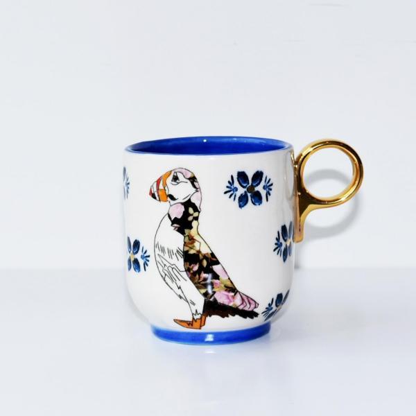 ANTHROPOLOGIE アンソロポロジー マグカップ Plumology Mug SAPPHIRE|kyouto-bluelapin|02