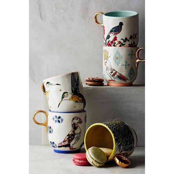 ANTHROPOLOGIE アンソロポロジー マグカップ Plumology Mug SAPPHIRE|kyouto-bluelapin|04
