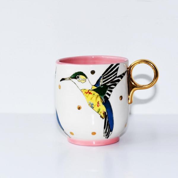 ANTHROPOLOGIE アンソロポロジー マグカップ Plumology Mug ROSE|kyouto-bluelapin|02